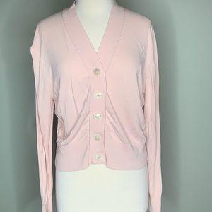 J. Crew light pink cardigan size XL
